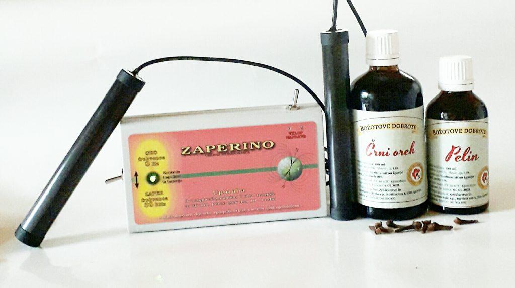 Zaper Zaperino terapija in paraziti -  crni oreh in pelin tinkturi